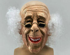 Scary Old Man Grandad Mask Wig - Halloween Fancy Dress