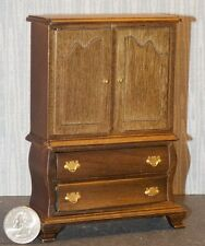 Dollhouse Miniature Armoire Walnut Wardrobe Closet 1:12  one inch scale E56