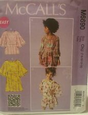 M6690 New McCall's Easy Girls Fashion Sewing Patterns For Sizes 7, 8, 10, 12, 14