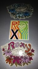 Unique Lot Of 3 AUTHENTIC ROXY QUALITY COLORFUL SURF/SKATE STICKER Free S/H