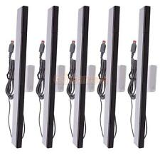 5X Wired Infrared IR Signal Ray Sensor Bar for Wii Gaming System Black & Silver