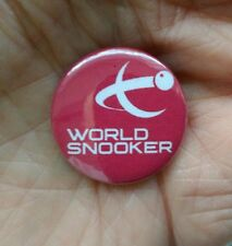 World Snooker 25mm pin badge. *free post to UK*