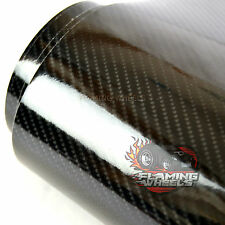 150cm x 40cm 4D HIGH GLOSS realistic carbon fibre wrap vinyl BLACK car sticker