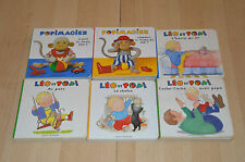 lot 6 livres LEO et POPI et Popimagier - Collection Pomme d'api 2 ans - cartonné