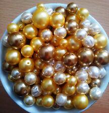 50g Premium Glaswachsperlen GOLD Preciosa MIX Perlen Glasperlen Wachsperlen