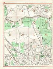 1964  VINTAGE STREET MAP - EDGEWARE, BOREHAMWOOD