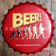 Tin Sign bottle cap beer! Bar Pub Home Vintage Retro Poster Cafe ART
