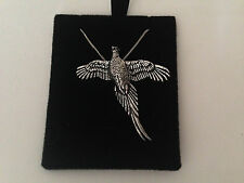 B47 High Pheasant on a 925 sterling silver Necklace Handmade 16 inch chain