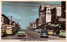Photo. 1951-2. New Westminster, BC Canada. Columbia St - autos