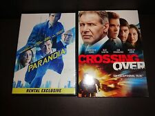 PARANOIA & CROSSING OVER-2 movies-HARRISON FORD, LIAM HEMSWORTH, AMBER HEARD