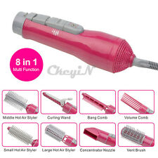 8-in-1 Hair dryer Hair Styling Hot Air Styler Concentrator Nozzle Curling Wand
