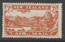 NEW ZEALAND SG550 1931 7d BROWN-ORANGE MTD MINT