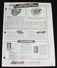 JACKSON MANUFACTURING WHEELBARROWS ADVERTISING SALES FLYER 1960s VINTAGE