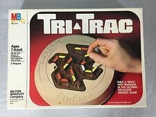 Tri-Trac Strategy Game 2 Player Ages 7 to Adult Vintage 1980 Milton Bradley