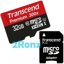 Transcend 32GB 32G UHS-I 300X Micro SDHC SD Flash Card Mobile Class 10 U1 45MB/s