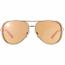 Michael Kors MK5004 Rose Gold Mirror Toupe Aviator Chelsea Sunglasses 1017R1