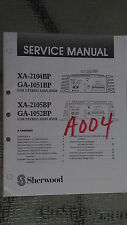 sherwood xa-2104bp 2105bp ga-1051 service manual repair car stereo amp amplifier