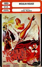Movie Card. Fiche Cinéma. Moulin Rouge (USA) John Huston 1953