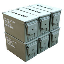 6 Pack M2A1 Surplus 50cal Size Metal Ammo Cans/Ammo Box - Excellent Grade A