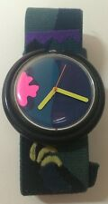 Swatch Pop Tropical Night Watch Quartz ETA Wristwatch Swiss Made PWBS104 1990