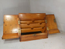 Antique Oak Desktop Stationery Cabinet , Writing Box   ref 2381