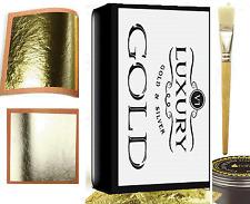 Argent et feuille d'or dorure kit 10 feuilles argent 10 feuilles or colle et brosse