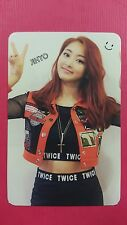TWICE JIHYO Official Photocard Red (Adult) Ver. 1st Album The Story Begins