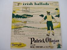 PATRICK O'HAGAN - IRISH BALLADS 1 - Signed OZ  10'' LP