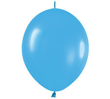"20ct. FASHION BLUE Link-o-Loon 6"" Latex Helium Linking Balloons ARCHES ARBORS"