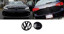 VW Golf 7 Emblem schwarz hochglanz satz Glänzend VW Zeichen MK7 R GTI TDI R400