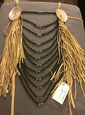 Native American Made breastplate crow style Loop necklace pow wow regalia Large