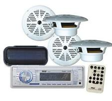 "New Marine Yacht Boat MP3 USB AUX Radio 4  x 6.5"" Speakers Stereo Cover & Remote"