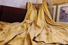 "HUGE BESPOKE SILK STYLE CURTAINS RICH FRENCH GOLD LINED WEIGHTED 80"" L x 101"" W"
