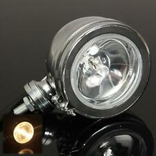 "4"" H3 55W Chrome Angel Eye Halogen Car Spotlights Work Fog Spot Light Round 12V"
