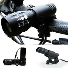 Bike Cycling 240 lumen Q5 Bicycle LED Front HEAD LIGHT Torch LARM With Mount