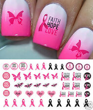 Breast Cancer Awareness Nail Art Waterslide Decals Set #3 - Salon Quality!