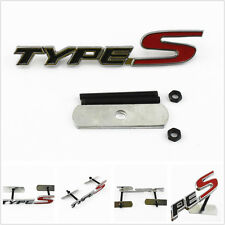 3D Car SUV Metal Front Grill Black Red TYPE-S Logo Decal Sticker Badge Emblem
