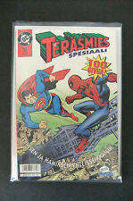 7.5 VF- DC & MARVEL PRESENT SUPERMAN VS SPIDERMAN FINNISH EURO VARIANT W/OWP