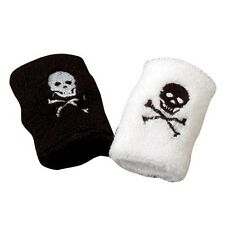 12 Pirate Skull & Bones Wrist Bands Kid Party Goody Loot Bag Filler Favor Supply