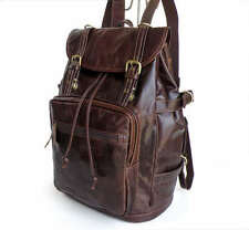 Handmade 100% Genuine Leather(JM161)Vintage Men's Backpack Shoulder Bag