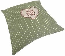 """HOME GREEN RED POLKA DOT EMBROIDERED COTTON BLEND CUSHION COVER 18"""" - 45CM"""