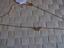 BRAND NEW HEART IN GOLD COLOURED CHAIN NECKLACE WITH DIAMANTE STONE IN HEART