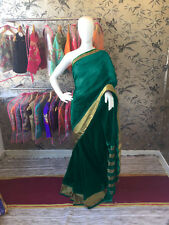 Bottel Green Cotton Silk Border Saree(DNHV67)