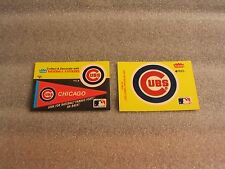 CHICAGO CUBS SET OF 2 FLEER BASE BALL CARD STICKERS
