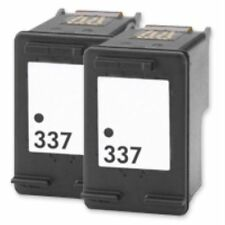 337 Black Ink  Cartridges x 2 for HP Deskjet 6940 6980 6983 6988  Non OEM Twin