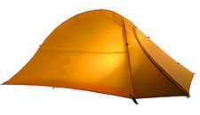 1-2 Person Ultra Lightweight Hiking Tent 1.35kg Premium Quality Ripstop (Orange)