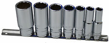 "Whitworth 3/8"" drive socket set on rail - 7pc Chrome vanadium"