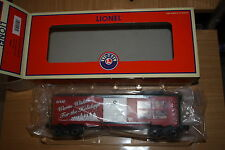 Lionel  O gauge #6-25061 Warm Wishes For The Holidays 2008 box car new