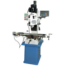 """PM-932M-PDF 9x32"""" VERTICAL MILLING MACHINE POWER DOWN FEED ON SPINDLE AND DRO"""