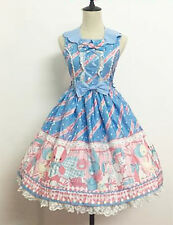 Sweet Lolita Angelic Pretty Replica Melody Toys Sax Blue JSK Dress + Headbow Set